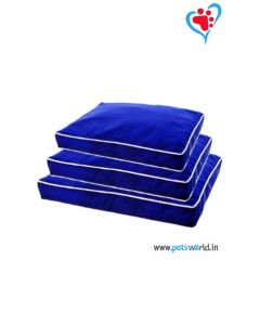 Petsworld Rectangular Dog Bed Medium (Blue)