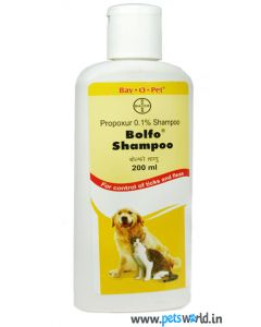 Bayer Bolfo Anti Tick and Flea Shampoo For Dogs and Cats 200 ml