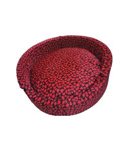 Petsworld Bucket Bed For Dog Black Hearts Large