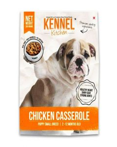 Kennel Kitchen Chicken Casserole Gravy Dog Food For Puppy Small Breed 300 gms