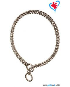 PetsWorld Premium Choke Chain Stainless Steel Medium 25 inch