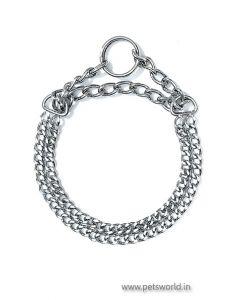 Karlie Double Choke Chain Collar For Medium and Large Dogs XLarge 2.5 mm 60 cm