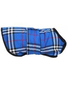Petsworld Check Fleece Coat For Dogs Blue Size 12