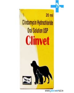 Cipla Clinvet Clindamycin Hydrochloride Oral Solution 20ml