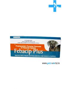 Cipla Febacip Plus Broad Spectrum Anthlemintic For Dogs & Puppies 10 Tablets