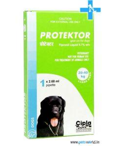 Cipla Protektor Spot On For Large Dogs 20-40 Kg (2.68 ml)