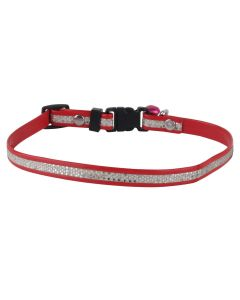 Petsworld High Quality Adjustable Solid Colour Designer Puppy and Cats Collars - Red