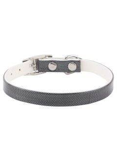 Petsworld High Quality Shining Colourful Adjustable Soft Collar for Puppies & Cats - Black