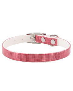 Petsworld High Quality Shining Colourful Adjustable Soft Collar for Puppies & Cats - Red