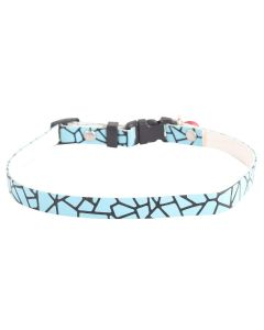 Petsworld High Quality Pet Soft Adjustable Solid Colour Shining Collar for Puppy - Cats - Kitten Light Blue