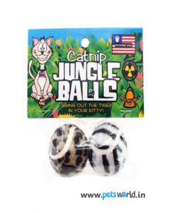 Petsport Catnip Jungle Ball Cat Toy 2 pcs