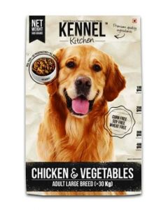 Kennel Kitchen Chicken & Vegetables Gravy Dog Food For Adult large Breed 500 gm