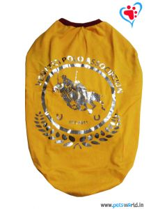 "DOGEEZ Winter Dog Tshirt ""POLO "" Yellow 24 Inches"