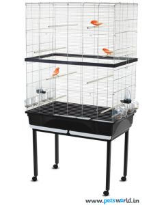 Imac Tasha Double Bird Cage LxWxH - 31.5x19x44 inch