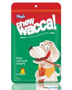 Drools Chew Wacca Real Chicken Strips 150 gms