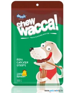 Drools Chew Wacca Liver Browny Strips 150 gms