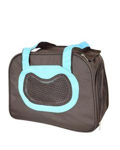 Petsworld Designs Travel Soft-Sided Pet Carrier Ventilated Light Blue
