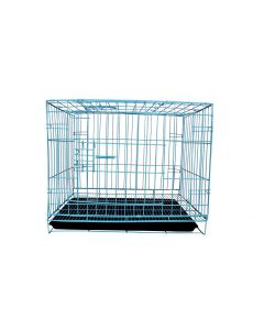 Petsworld Dog Cage for Dog Or Cat with Removable Tray, 18 inch Light Blue
