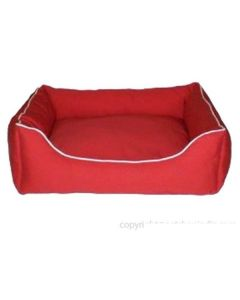 Dog Gone Smart Lounger Bed Red LxW : 26 x 24 (inches)