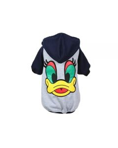 Petsworld Winter Donal Duck Hoodie For Dogs Size 12 Blue