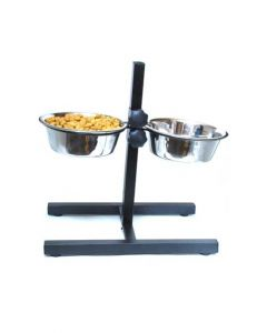 Pets Empire Double dog Feeding Bowls Set Adjustable 2 x 2800 ml
