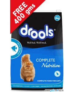 Drools Ocean Fish Cat Food 3 Kg + FREE 400 gms