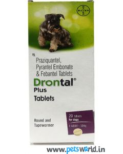 Bayer Drontal Plus Dewormer 20 tabs