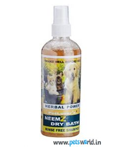 Pet Lovers Neemz Dry Bath Rinse Free Shampoo 200 ml