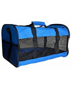 Petsworld Expandable Breathable Pet Carrier With Padded Fleece Insert Soft Sided Carrier (Blue)