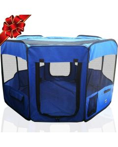 Petsworld Fabric Cage for Pet Animals (Blue)