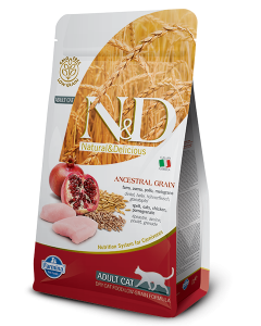 Farmina N&D Low Grain Chicken & Pomegranate Adult Cat Food 300 Gm