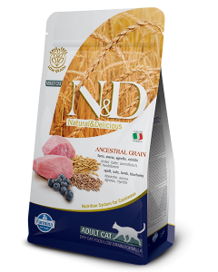 Farmina N&D Low Grain Lamb & Blueberry Adult Cat Food 5 Kg