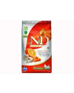 Farmina N&D Pumpkin Grain Free Codfish and Pomegranate Mini Adult Dog Food, 0.8 kg