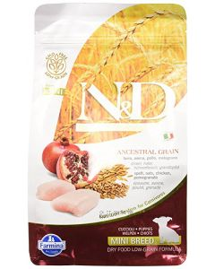 Farmina N&D Low Grain Chicken & Pomegranate  Puppy Dog Food 0.8 kg ( Mini)