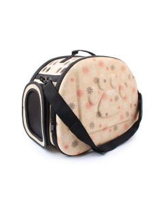 Petsworld Fashionable Travel Foldable Pet Carrier Bag Beige Small