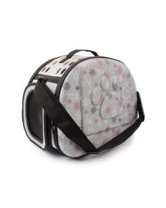 Petsworld Fashionable Travel Foldable Pet Carrier Bag Grey Small