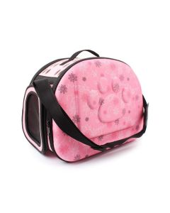 Petsworld Fashionable Travel Foldable Pet Carrier Bag Pink Small