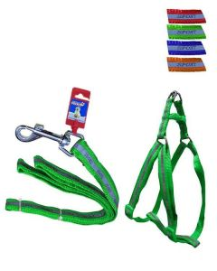 FEKRIX Reflective Leash Plus Harness