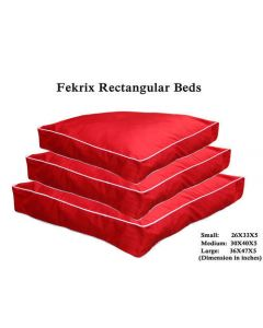 FEKRIX Rectangular Bed Red Small