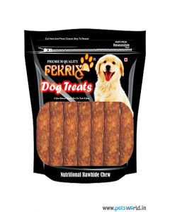 Fekrix Dog Chew Treats Kabab Lamb Flavor 450 gms