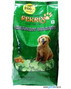 Fekrix Spinach Flavour Dog Biscuits 1Kg