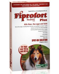 Savavet Fiprofort Plus Spot On For Dogs Over 40 Kg Upto 60 Kg 4.02 ml