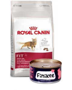 Royal Canin Fit 32 2 Kg + Free Finikee Cat Food Can New Year Combo