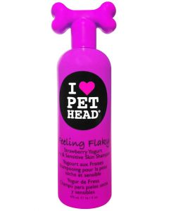Pet Head Feeling Flaky Strawberry Yogurt Dry and Sensitive Skin Dog Shampoo 475 ml