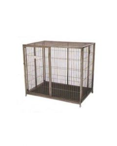 All4Pets Folding Steel Cage with Wheels Small LxWxH - 93x65.5x92 cm