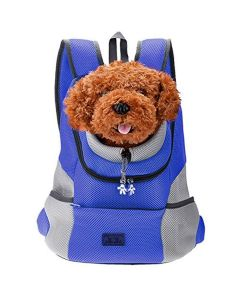 Petsworld Comfortable Front Carrier Backpack For Small Dogs Blue