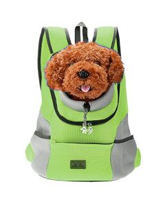 Petsworld Comfortable Front Carrier Backpack For Small Dogs Green