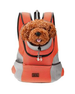 Petsworld Comfortable Front Carrier Backpack For Small Dogs Orange