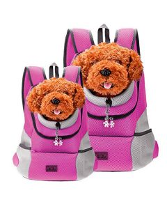 Petsworld Comfortable Front Carrier Backpack For Small Dogs Pink