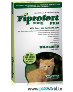 Savavet Fiprofort Plus Spot On For Cats 0.5 ml